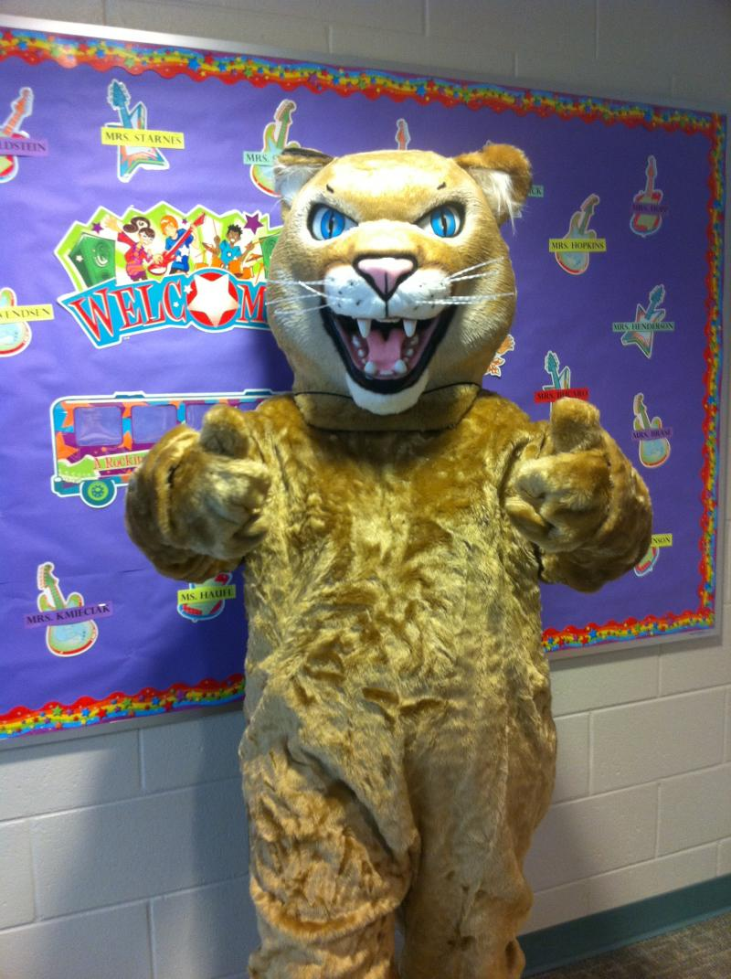 8/28/15:  Mack the Mountain Lion made a special appearance at Mackeben today.